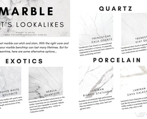 Alternatives to marble infographic