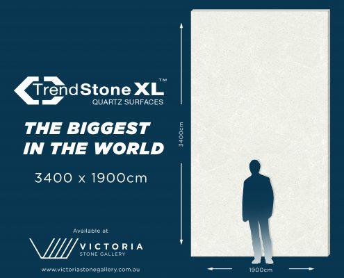 The biggest quartz slabs, Trendstone XL.